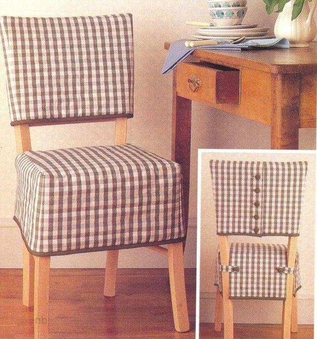 Чехлы на стулья своими руками: фото, выкройки, как. - Pinterest 62